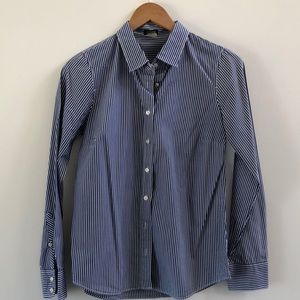 J. Crew Blue and White Button Down S